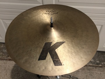 "Selling with online payment or cash/check/money order/cash app/Venmo: Zildjian K Custom 17"" Dark Crash Cymbal $225 OBO"