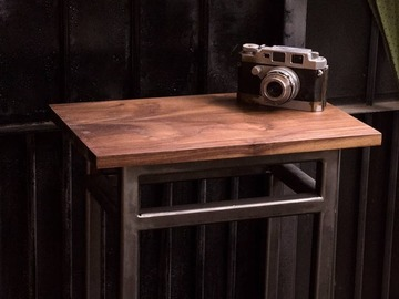: Small Walnut Side Table