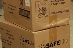 Buy Now: 2 Cases of 200 Safe Life N95 Respirator Mask 400 ct