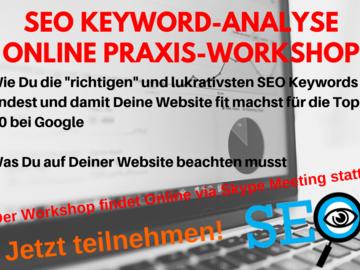 Workshop Angebot (Termine): Google Seite 1 - SEO Keyword-Recherche Praxis-Workshop