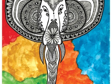 : Tribal Elephant Poster - Art Print