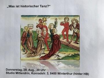 """Workshop Angebot (Termine): """"Was ist historischer Tanz"""""""