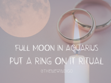 Selling with online payment: Aquarius Full Moon Ritual work