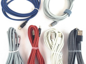 Liquidation Lot: (400) Lightning Cables Compatible for Apple iPhone Assorted Sizes