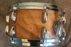Selling with online payment: Gretsch USA CUSTOM 6.5X14 MATT SORUM AFICA/NATUCIAL RARE WOODBURN