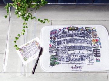 : Hong Kong Kowloon City Sketching Mat, HK Culture