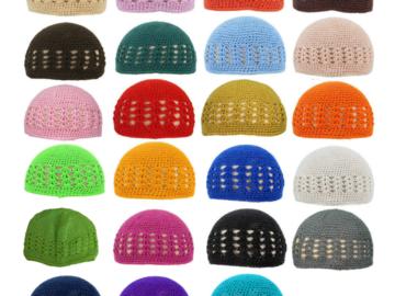 Buy Now: 200 Liquidation handmade crochet baby hats, beanies. $0.85 Each