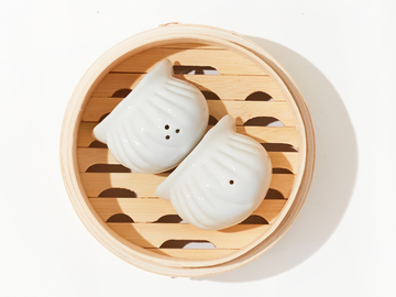 : Har Gow Salt and Pepper Shakers - White