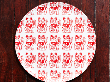 : Lucky Cat Serving Tray