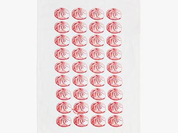 : Baozi Tea Towel - Red