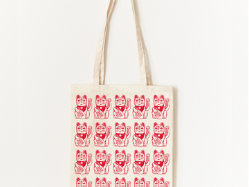 : Lucky Cat Tote Bag
