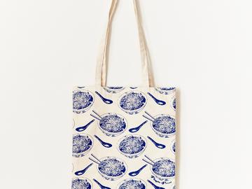 : Noodle Bowl Tote Bag - Blue