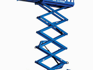 Weekly Equipment Rental: 7.9m Electric Scissor Lift Weekly Hire