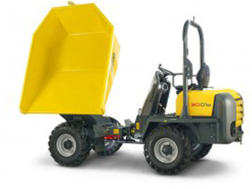 Weekly Equipment Rental: 3 Tonne Dumper - Swivel Tip