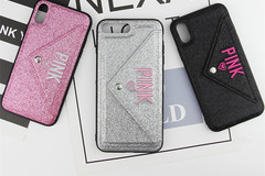 Liquidation Lot: 3D flash wallet embroidery case for iphone with card holder