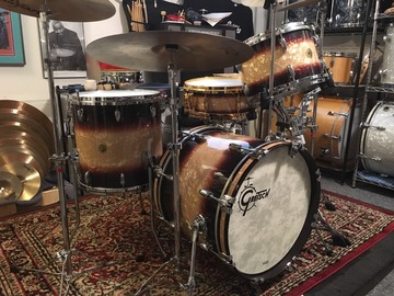 Selling with online payment or cash/check/money order/cash app/Venmo: Gretsch USA Custom Bop Kit in Espresso Burst Wrap