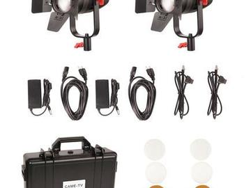 Vermieten: 55w Fresnel Focusable Bi-Color LED + Stative