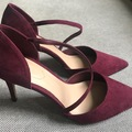 Selling without online payment: Aldo shoes - burgundy suede heels