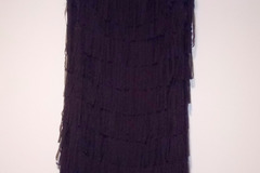 Myydään: Black flapper-style cocktail dress
