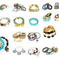 Liquidation Lot: (474) Wholesale Mixed Rhinestone Alloy Bracelets Cuff Bangle
