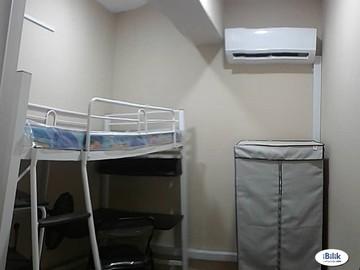 For rent (month/hour): Full Furnish Room at SS4 Kelana Jaya,Dataran Glomac SS6 WIFI