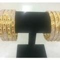 Liquidation Lot: (100) Newest Diamond Studded Micron plated Gold bangles bracelets