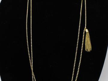 Buy Now: 50 New Gold Rhinestone Tassel Necklaces by J.Crew $85 Tags Each
