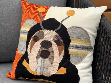 Selling: Halloween Dog Costume Pillow, Bee Costume, Fall Decoration