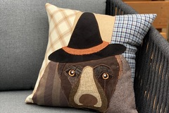 Selling: Halloween Dog in Witch Costume Pillow, Fall Decoration