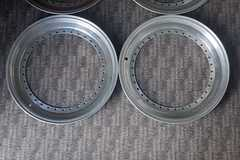 "Selling:  4x Original BBS 17"" 1 inch Dishes / Lips / Rims Split RS RF"