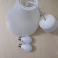 Myydään: good lamp cover and two bulbs.