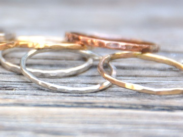 Class Online Payment: MOMS NIGHT! Make Sterling Silver Stacking Rings