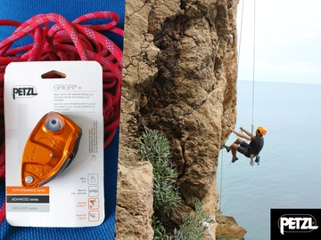 Renting out (per day): Kiipeily Petzl Grigri+ Varmistuslaite Orange