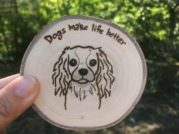 Selling: Spaniel Wood Burned Magnet