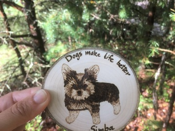Selling: Custom Order Wood Dog Magnet (medium)