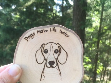 Selling: Beagle Dog Wood Magnet