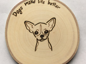 Selling: Simple Chihuahua Magnet, Christmas Ornament, or Coaster