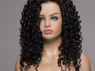 Selling with online payment: 10' Curly Mink Full Lace Wig