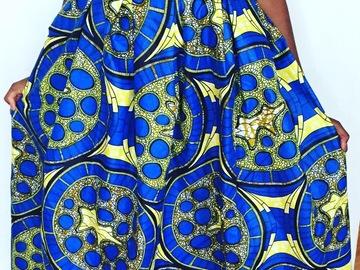 Vente au détail: jupe longue en wax