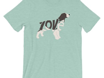 Selling: LoVe T-Shirt - English Springer Spaniel