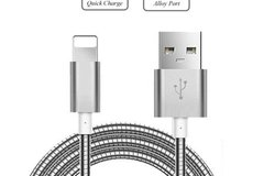 Buy Now: (100) Metal Braided USB Cable Chargers for iPhone