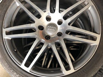 "Selling: 21"" Audi Q7 rims with tires"