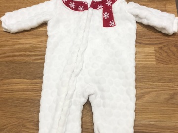 Selling with online payment: Christmas snuggly bear suit, age  0-3 Mths