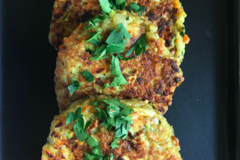Actualité: Quinoa and vegetable galettes, burger or cake