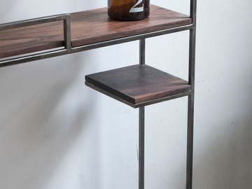 : Reclaimed Rosewood Industrial Style Shelf