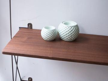 : Sapelle  (African Mahogany) Minimalist shelf
