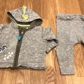 Selling with online payment: Dinosaur/monster soft tracksuit, age 3-6 Mths