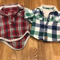 Selling with online payment: Lumberjack/plaid style grow & jacket, age 3-6 Mths