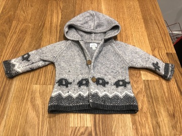 Selling with online payment: John Lewis Elephant cardigan, age 3-6 Mths