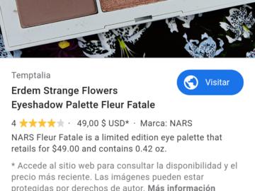 Buscando: Busco paleta Nars Erdem Fleur Fatale
